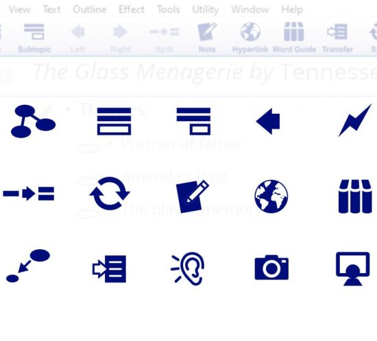 Tech Ed iconography for Inspiration app